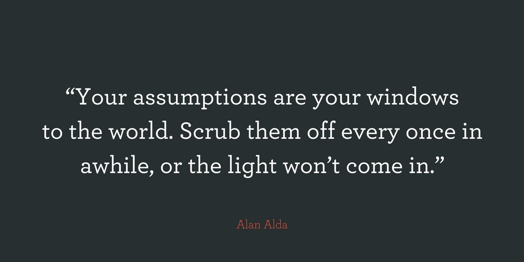 Assumptions in marketing
